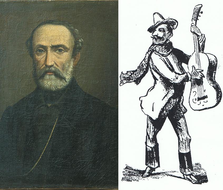 Ritratto di Giuseppe Mazzini (Musei civici di Imola) & Cantastorie